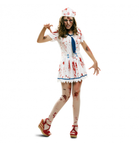 Fato de Marinheira zombie mulher para a noite de Halloween