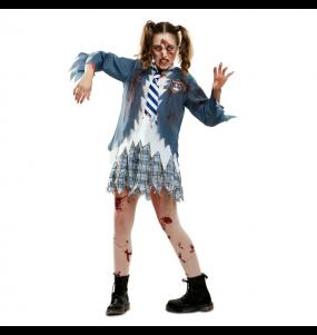 Disfarce original Colegial Zombie mulher ao melhor preço