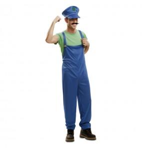 Disfarce Super Luigi adulto divertidíssimo para qualquer ocasião