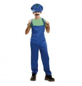 Disfarce Super Luigi menino para deixar voar a sua imaginação