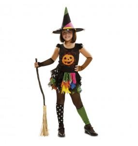 Disfarce Bruxa Abóbora menina para que eles sejam com quem sempre sonharam