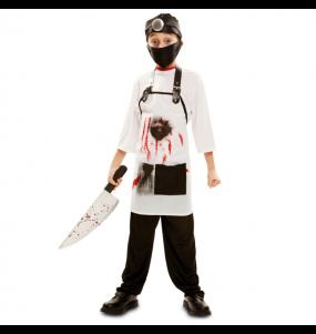 Disfarce Halloween Médico assassino para meninos para uma festa do terror