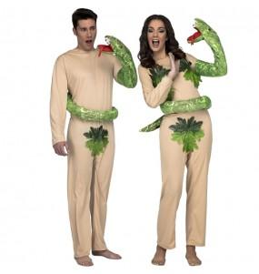 O casal Adão e Eva Paraíso original e engraçado para se disfraçar com o seu parceiro