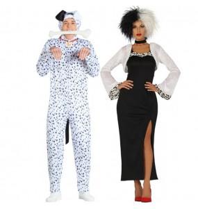 O casal Os 101 Dálmatas original e engraçado para se disfraçar com o seu parceiro