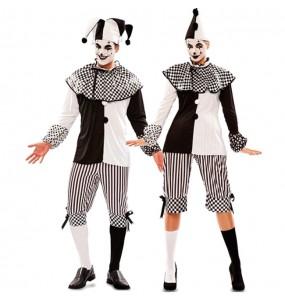 O casal Arlequim Circo original e engraçado para se disfraçar com o seu parceiro