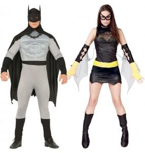 O casal Super-heróis Batman original e engraçado para se disfraçar com o seu parceiro