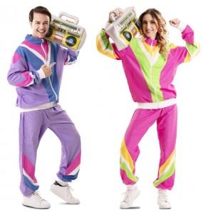 O casal Treino anos 80 original e engraçado para se disfraçar com o seu parceiro