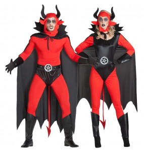 O casal Demônios Lúcifer original e engraçado para se disfraçar com o seu parceiro