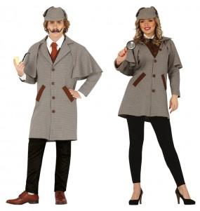 O casal Detectives Sherlock Holmes original e engraçado para se disfraçar com o seu parceiro