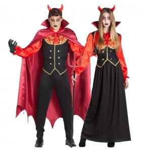 O casal Demônios do Inferno original e engraçado para se disfraçar com o seu parceiro
