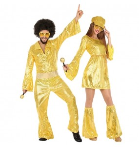 O casal disco ouro original e engraçado para se disfraçar com o seu parceiro