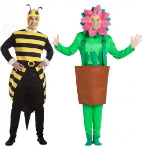 O casal Abelhão e Flor original e engraçado para se disfraçar com o seu parceiro