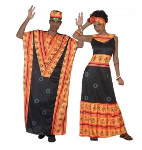 O casal africanos original e engraçado para se disfraçar com o seu parceiro