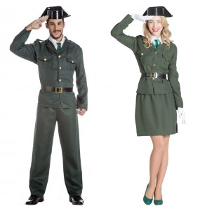 O casal Agentes da Guardia Civil original e engraçado para se disfraçar com o seu parceiro