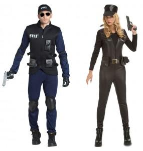 O casal Polícias SWAT original e engraçado para se disfraçar com o seu parceiro