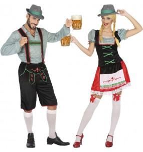 Fatos de casal Alemães festa da cerveja