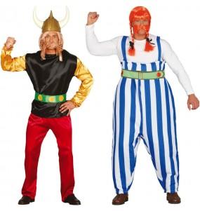 O casal Asterix e Obelix original e engraçado para se disfraçar com o seu parceiro