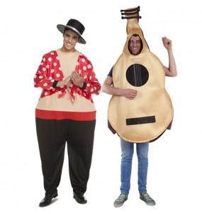 O casal Flamencos Cómicos original e engraçado para se disfraçar com o seu parceiro