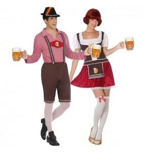O casal Oktoberfest alemão original e engraçado para se disfraçar com o seu parceiro