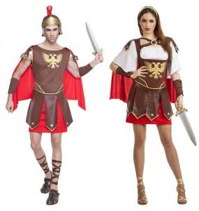 O casal Centuriões romanos original e engraçado para se disfraçar com o seu parceiro