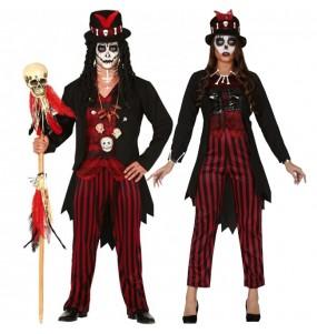 O casal Xamãs Voodoo original e engraçado para se disfraçar com o seu parceiro