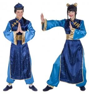 O casal Chineses elegantes original e engraçado para se disfraçar com o seu parceiro