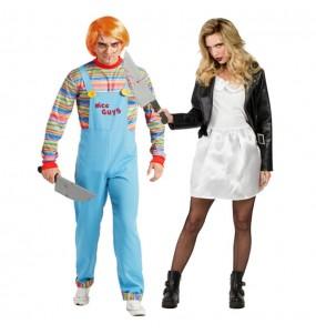 O casal Chucky e Tiffany Bonecos Assassinos original e engraçado para se disfraçar com o seu parceiro