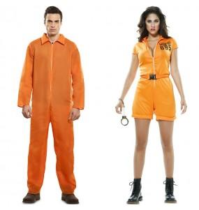 O casal Prisioneiros Guantánamo original e engraçado para se disfraçar com o seu parceiro