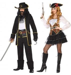 O casal Corsários original e engraçado para se disfraçar com o seu parceiro