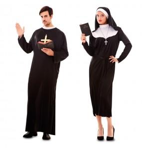 O casal Padre e Freira original e engraçado para se disfraçar com o seu parceiro