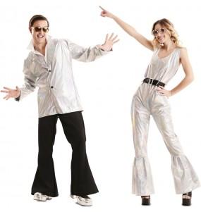 O casal Discos dancer original e engraçado para se disfraçar com o seu parceiro