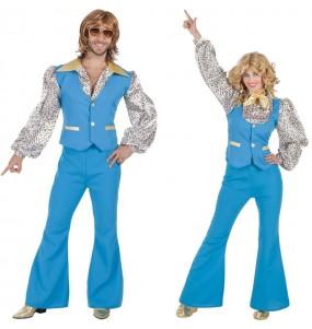 O casal Disco Azul original e engraçado para se disfraçar com o seu parceiro