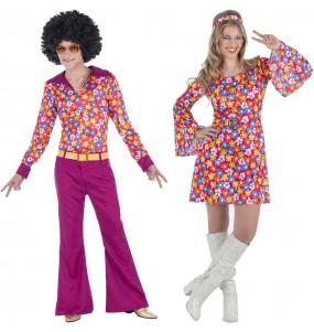 O casal Disco Flores original e engraçado para se disfraçar com o seu parceiro