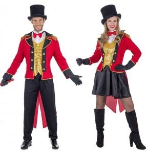 O casal Domador Circo original e engraçado para se disfraçar com o seu parceiro