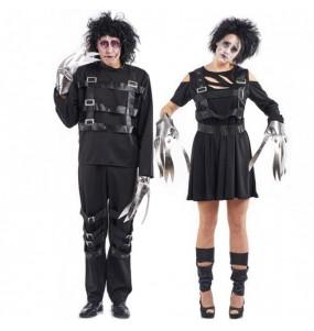 O casal Eduardo Mãos de Tesoura original e engraçado para se disfraçar com o seu parceiro