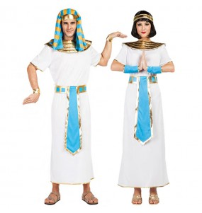 O casal egípcios azul original e engraçado para se disfraçar com o seu parceiro