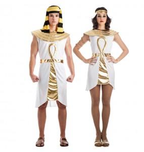 O casal egípcios dourados original e engraçado para se disfraçar com o seu parceiro