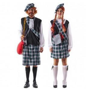 O casal Escoceses celtas original e engraçado para se disfraçar com o seu parceiro