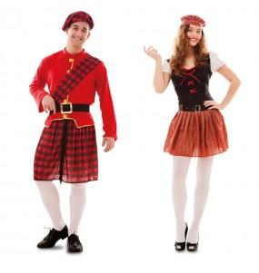 O casal Escoceses original e engraçado para se disfraçar com o seu parceiro