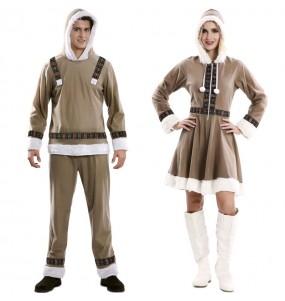 O casal Esquimó Inuit original e engraçado para se disfraçar com o seu parceiro