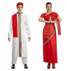 O casal Hindus Bollywood original e engraçado para se disfraçar com o seu parceiro