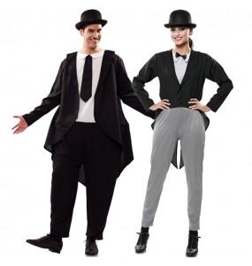 O casal Bucha e Estica original e engraçado para se disfraçar com o seu parceiro