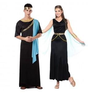 O casal gregos preto original e engraçado para se disfraçar com o seu parceiro