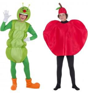 O casal Verme e Maçã original e engraçado para se disfraçar com o seu parceiro