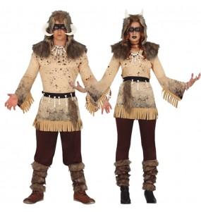 O casal Feiticeiros Xamãs original e engraçado para se disfraçar com o seu parceiro