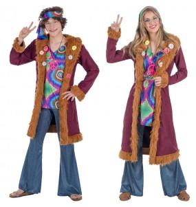 O casal Hippies Deluxe original e engraçado para se disfraçar com o seu parceiro