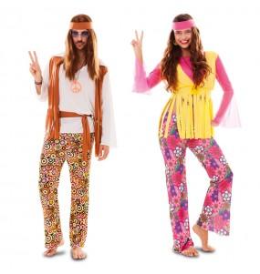 O casal Hippies baratos original e engraçado para se disfraçar com o seu parceiro