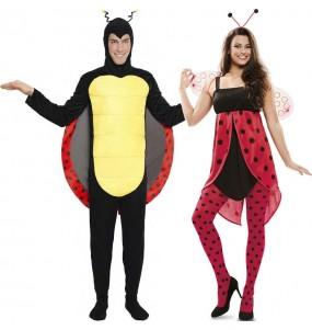 O casal Insectos Joaninhas original e engraçado para se disfraçar com o seu parceiro