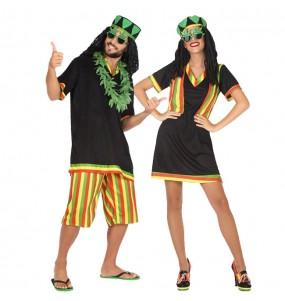 O casal Jamaicanos original e engraçado para se disfraçar com o seu parceiro