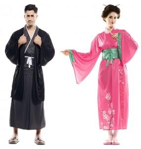 O casal Japoneses original e engraçado para se disfraçar com o seu parceiro